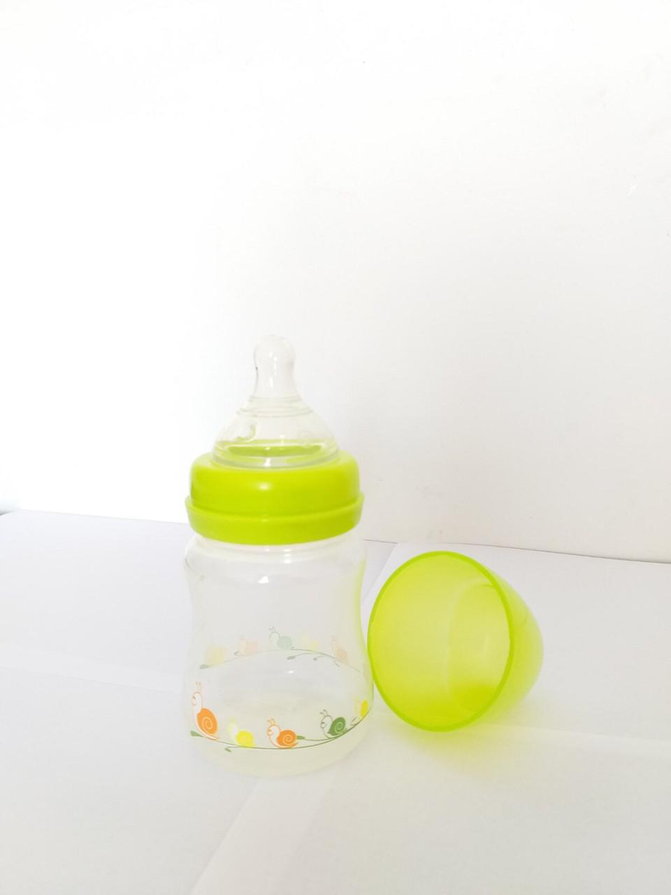 Бутылочка  для кормления с широким горлом с силиконовой  соской, 150 мл Baby Team