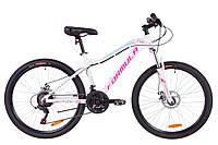 """Велосипед 26"""" Formula MYSTIQUE 1.0 AM 14G  DD  рама-16"""" Al бело-голубой с фиолетовым   2019"""