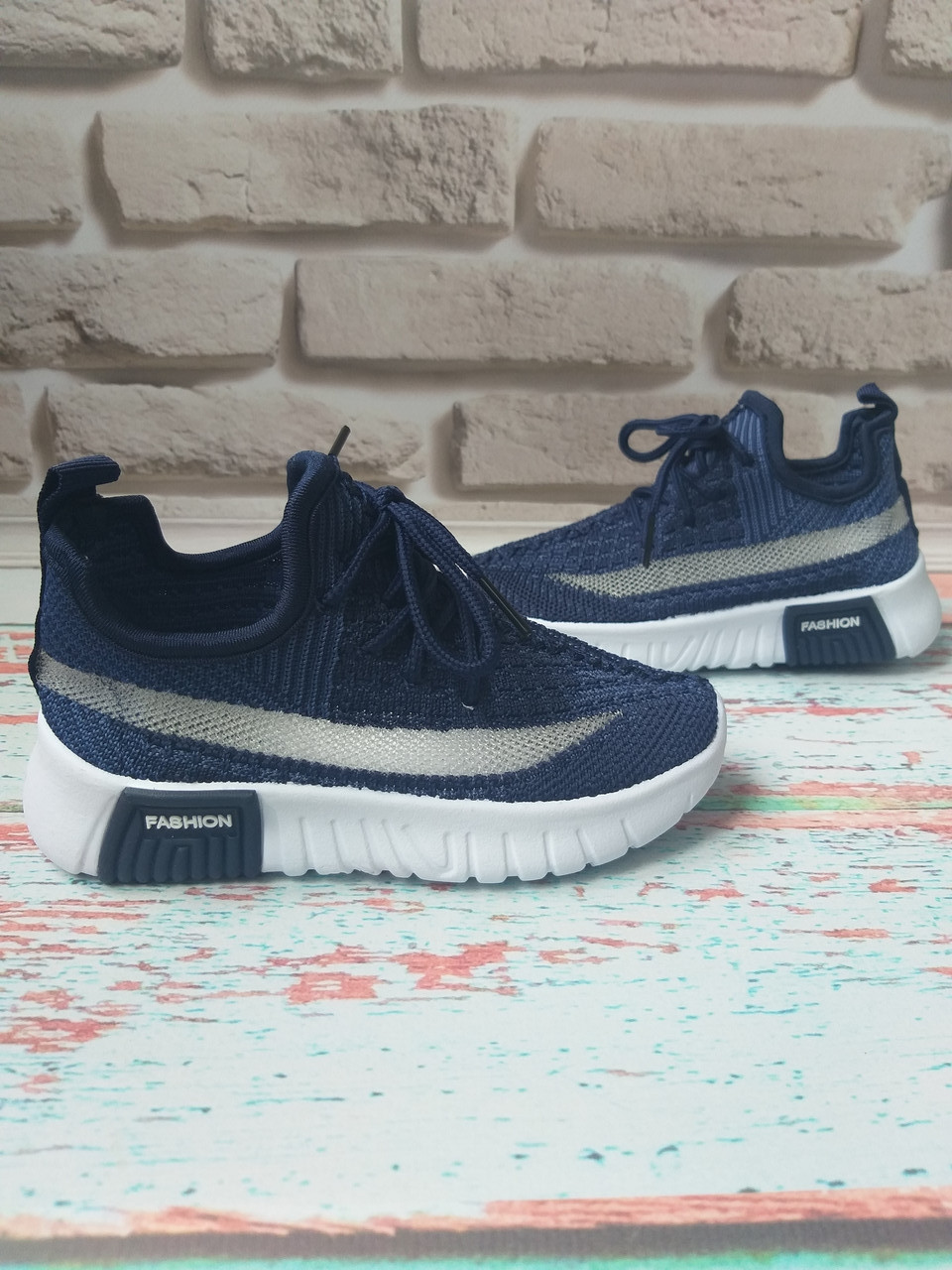 Детские летние синие кроссовки на мальчика сетка 30 размер