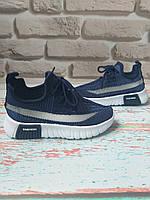 Детские летние синие кроссовки на мальчика сетка 30 размер, фото 1