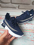 Детские летние синие кроссовки на мальчика сетка 30 размер, фото 3