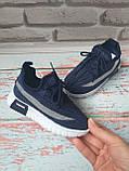 Детские летние синие кроссовки на мальчика сетка 30 размер, фото 5