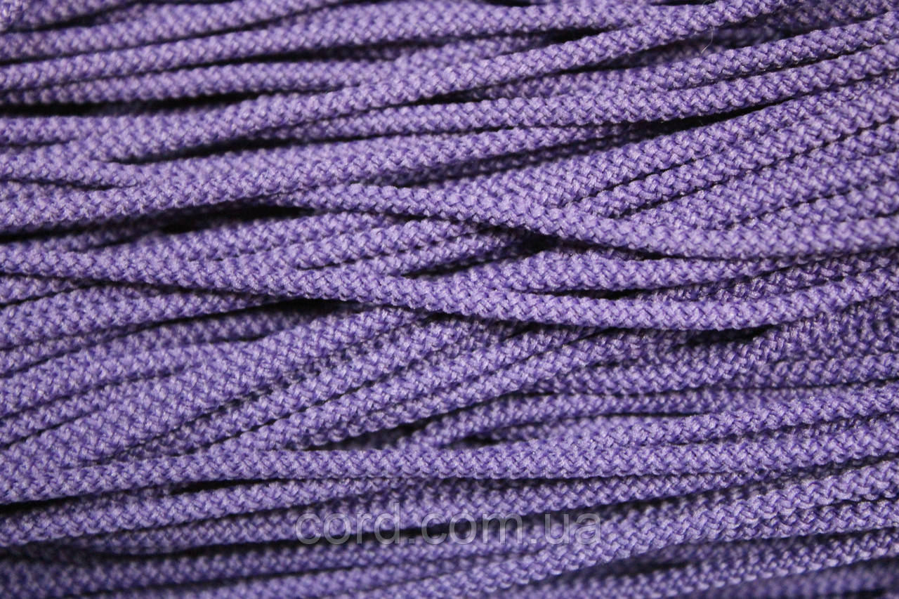 Шнур круглый 3мм 200м  фиолетовый