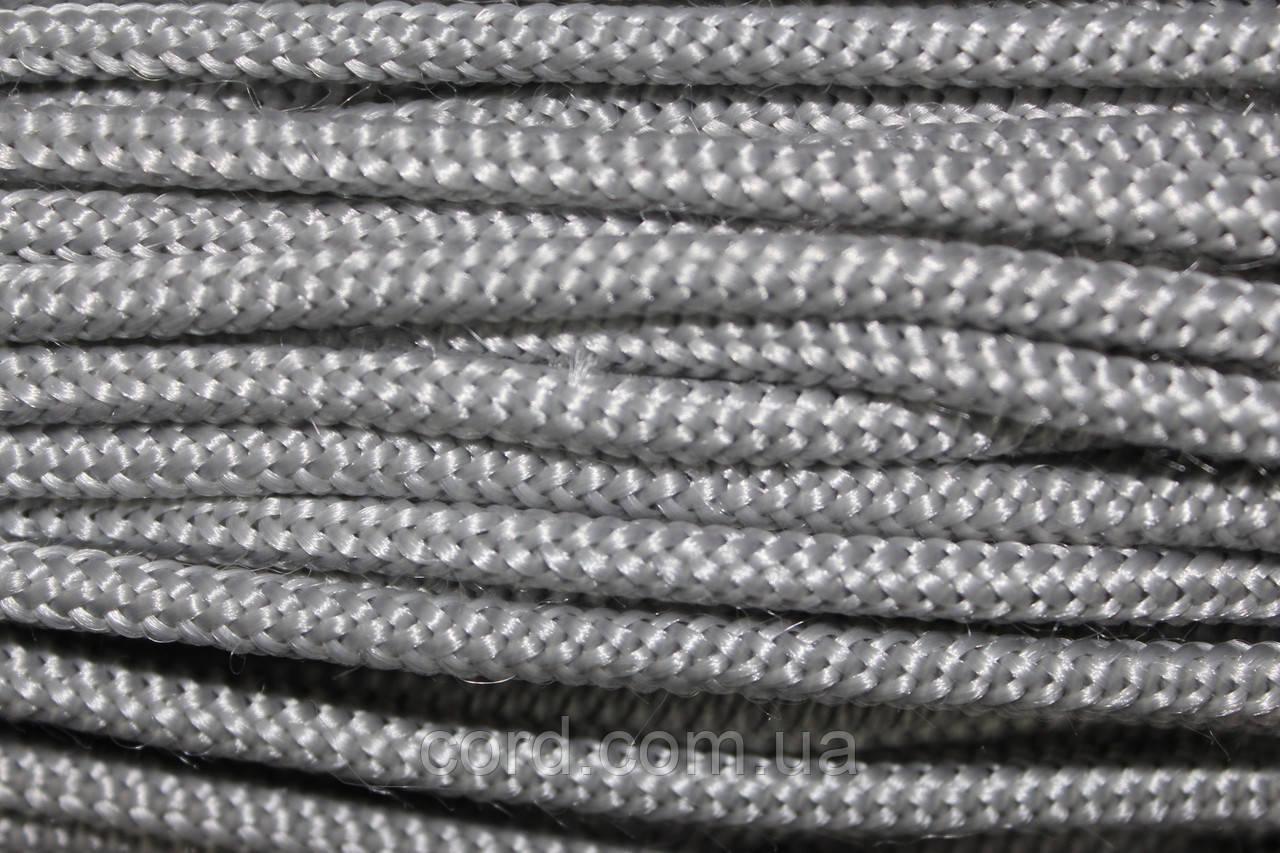 Шнур круглый 3мм 100м  светло серый