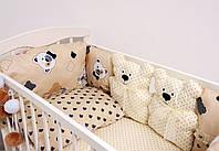 Детский постельный набор красивый комплект в кроватку Мишки