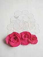 Шаблон пластиковый цветок фиалка 05
