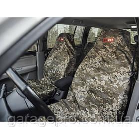 Комплект брудозахисних чохлів ORPRO на переднє і заднє сидіння камуфляж (Піксель)