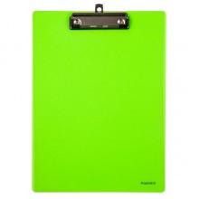 Планшет\кліп-борд А4 пластик, напівпрозорий, салатовий 2515-09