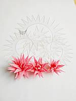Шаблон пластиковый цветок игольчатая хризантема 08