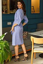 """Хлопковое платье-халат в клетку """"Изабель"""" с поясом и карманами (3 цвета), фото 3"""