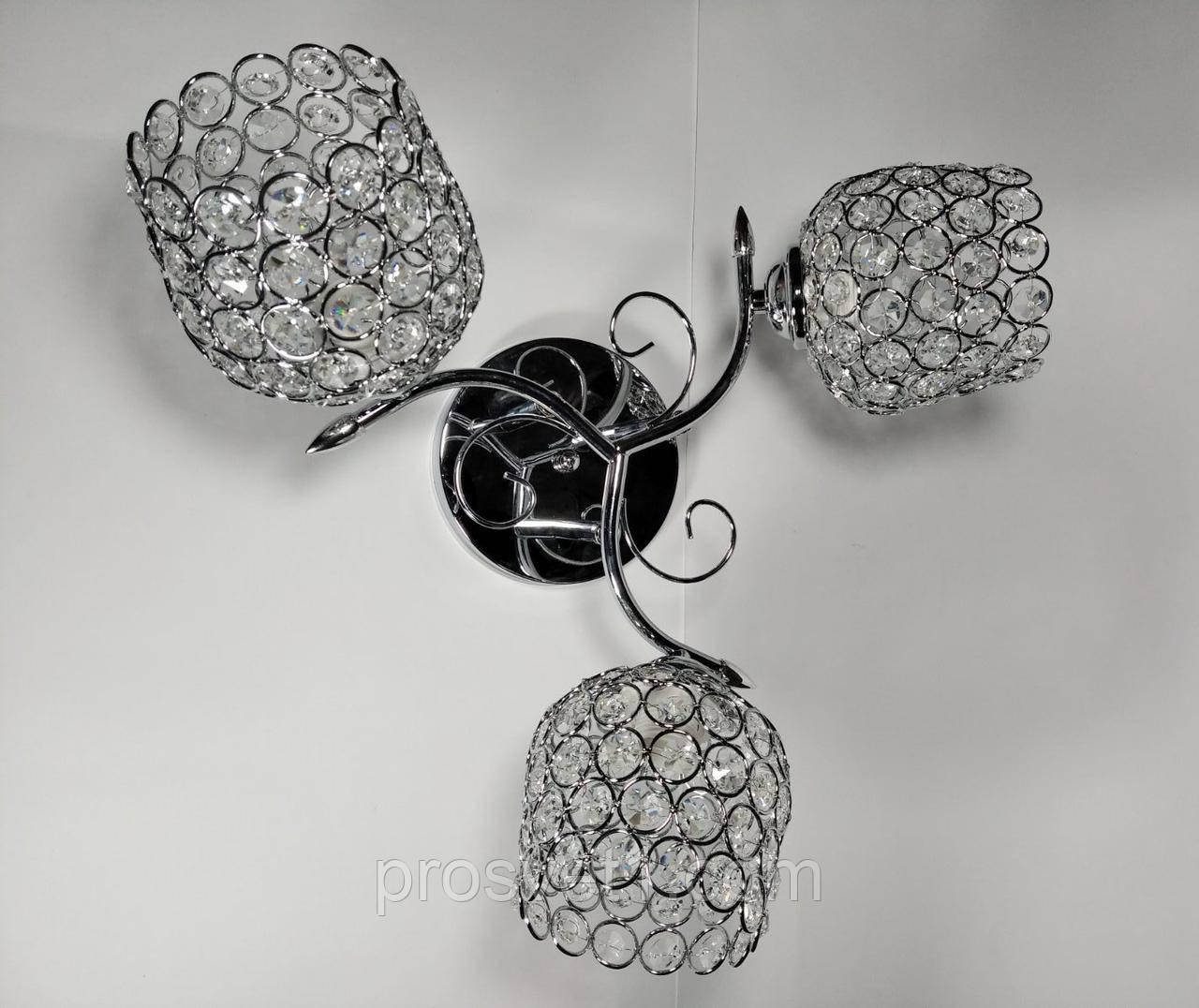 Люстра потолочная с плафонами (W6001/3 хром Melody)