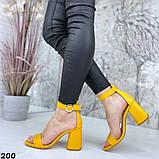 Женские босоножки на удобном устойчивом каблуке с ремешком,натуральна кожа, фото 2