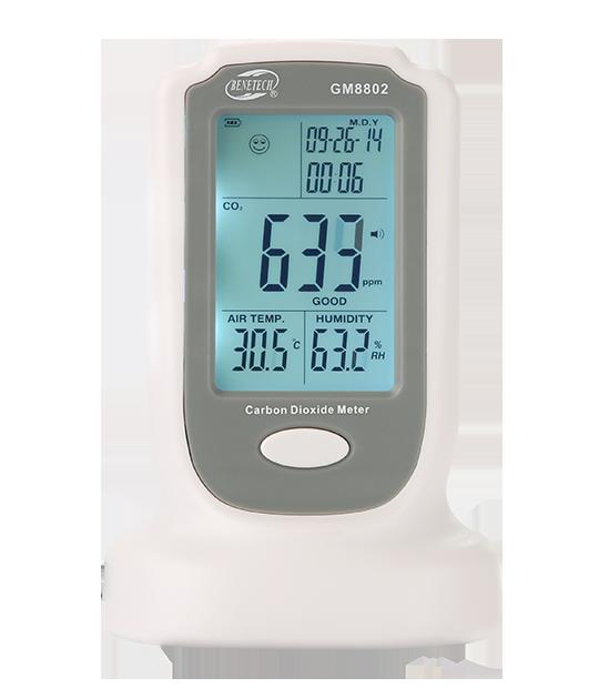 Монитор концентрации углекислого газа (газоанализатор СО2) +термогигрометр BENETECH GM8802