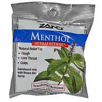 Zand, Ментол, травяные леденцы, успокаивающий ментол, 15 леденцов с ментолом