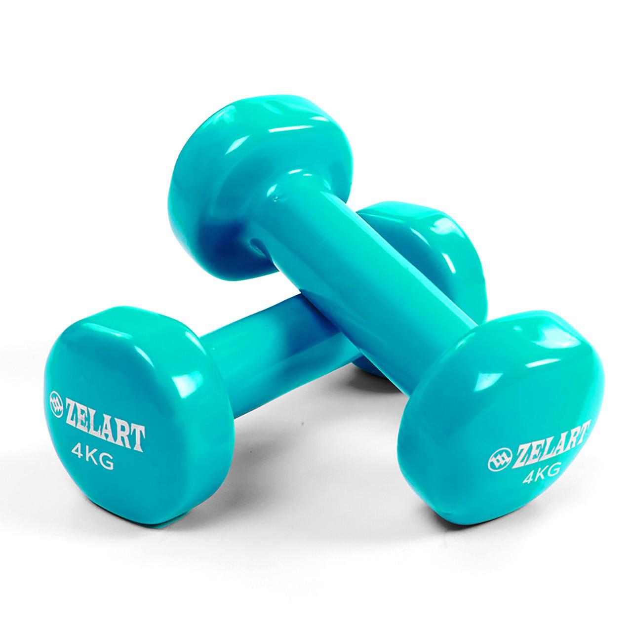 Гантели для фитнеса с виниловым покрытием 4 кг