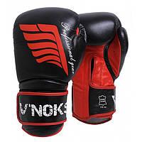 Боксерські рукавички V'Noks Inizio 14 oz унцій чорний