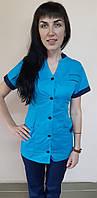 Женский медицинский костюм Оксана размер 44 хлопок короткий рукав