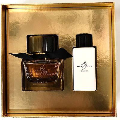 Подарунковий жіночий набір BURBERRY My Burberry Black парфюмирванная вода 50ml + лосьйон для тіла 75ml ОРИГІНАЛ