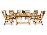Обідній комплект HAVANA ,стіл розкладний  200см+крісла, фото 2