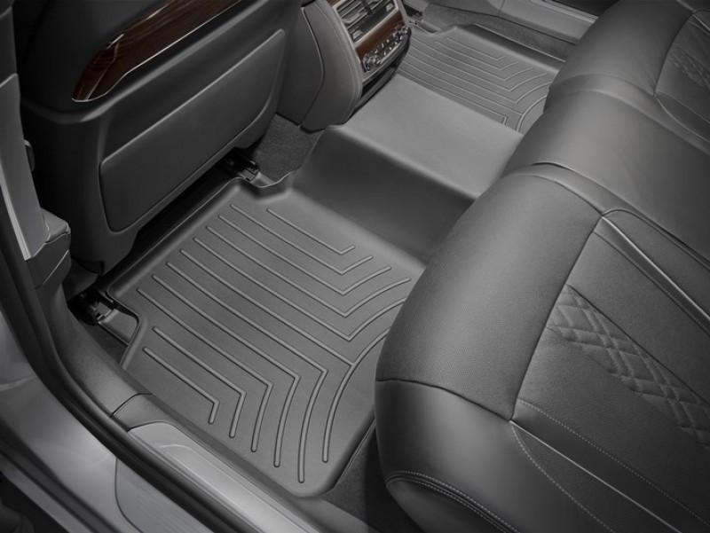 Ковры резиновые WeatherTech BMW 7 (G11/G12) 15+ задние (станд. база) черные