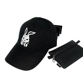 Бейсболка мужская кепка Intruder Originals мужская | женская черная брендовая, фото 2