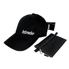 Бейсболка мужская кепка Intruder Originals мужская | женская черная брендовая + Фирменный подарок