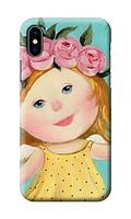 Чехол «Девочка с венком» для Iphone X Силиконовый