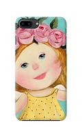 Чехол «Девочка с венком» для Iphone 8 plus Силиконовый