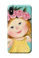 Чехол «Девочка с венком» для Iphone XS Силиконовый