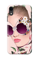 Чехол «Девушка и цветы» для Iphone XR Силиконовый