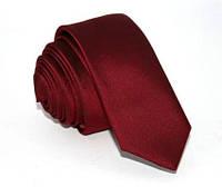 Бордовый мужской галстук bordo 5cm