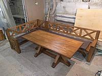 Стол и лавочки из сосны
