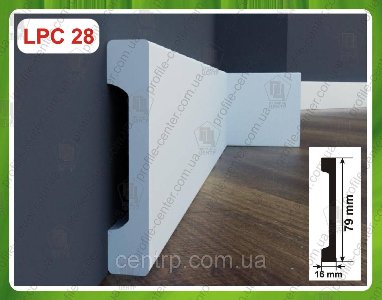 Плинтус 79 x 16 мм напольный из дюрополимера LPC-28 Cezar Elegance