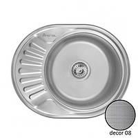 Кухонная врезная нержавеющая мойка круглая IMPERIAL 5745 0.8 DECOR 180