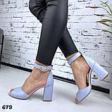 Женские босоножки на удобном устойчивом каблуке с ремешком,натуральна кожа, фото 8