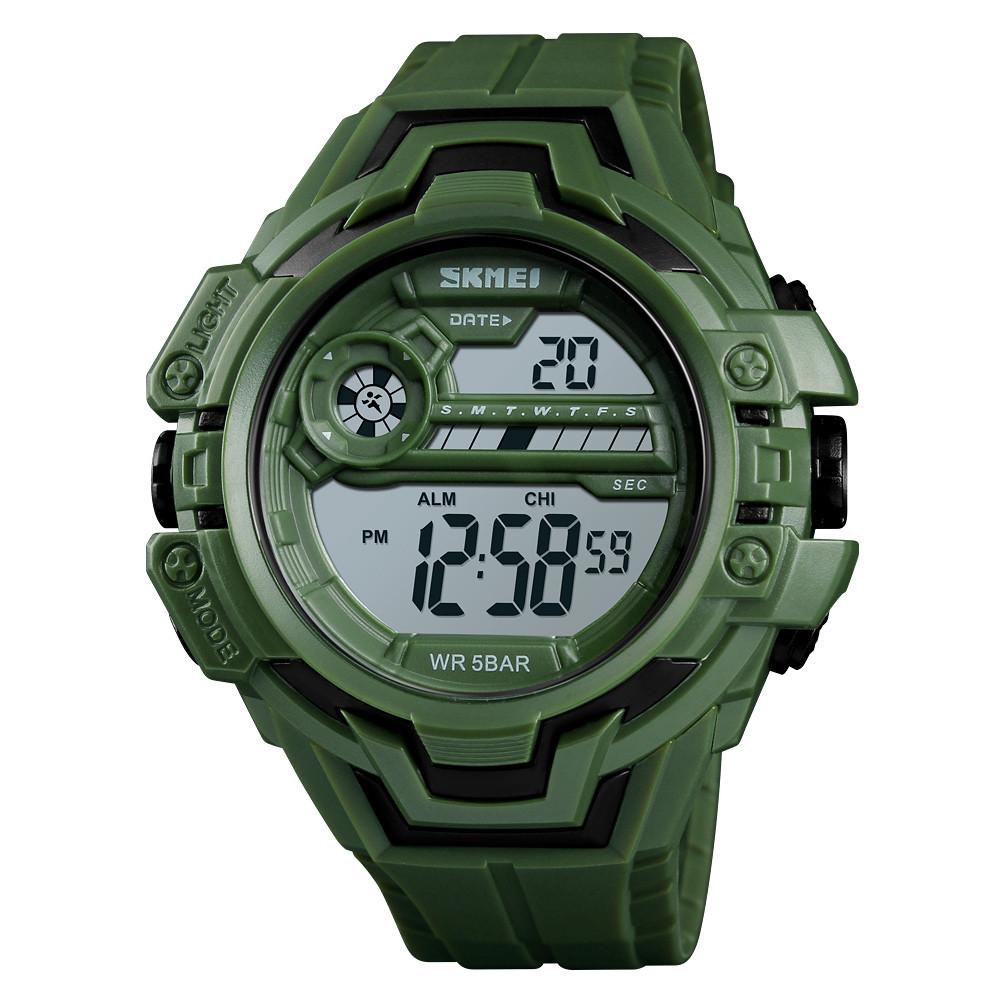 Skmei 1383 зеленые мужские спортивные часы