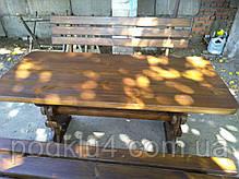 Стол и лавочки садовые из сосны, фото 2