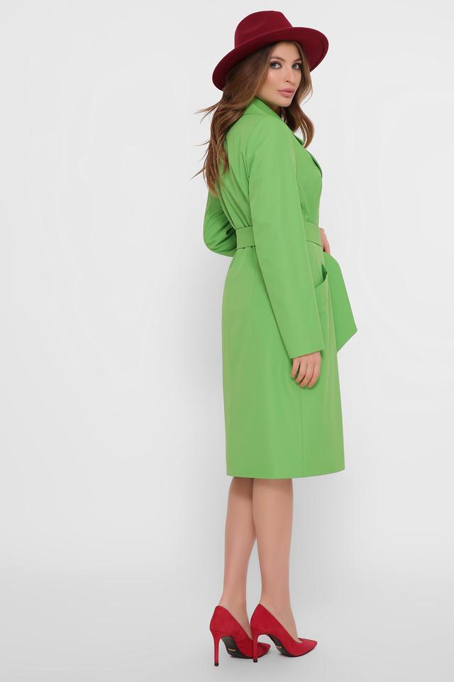 женский плащ зеленый
