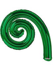 Фольгована кулька Спіраль зелений 43х30см Китай