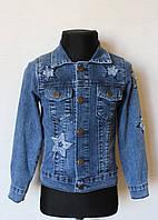 Джинсовая курточка/пиджак на девочку 5-8 лет