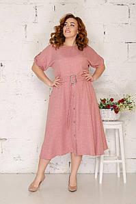 Льняное платье миди 50-56 р ( разные цвета )
