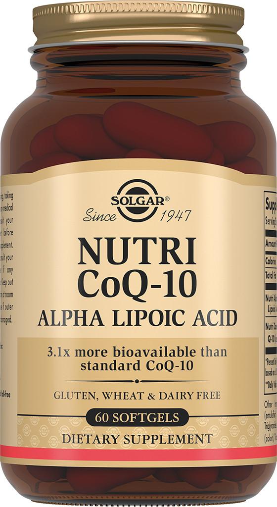 Solgar Нутрикоэнзим Q-10 с альфа-липоевой кислотой капсулы №60