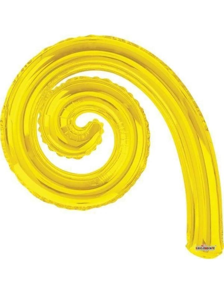 Фольгована кулька Спіраль жовтий 43(30см)