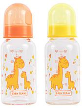 Бутылочка для кормления стеклянная с соской Baby Team (1200) 150 мл