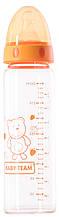 Бутылочка для кормления стеклянная с соской Baby Team (1201) 250 мл