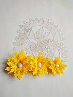 Шаблон пластиковый цветок хризантема ажурная 26, фото 1