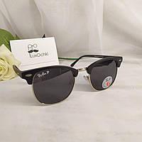 Культовые солнцезащитные очки Ray Ban Clubmaster поляризованные