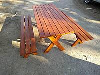 Стол и лавочки садовые из сосны, фото 1