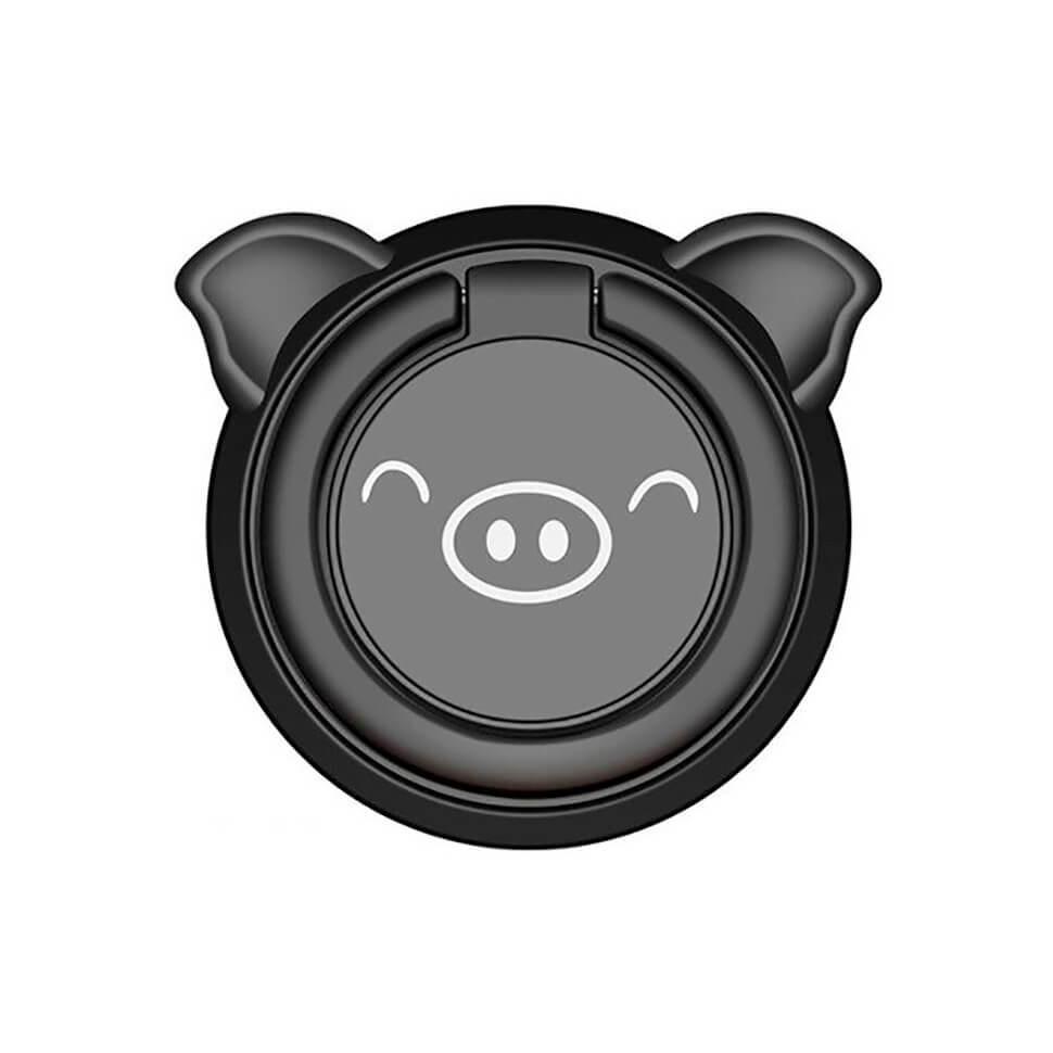 Металлическое кольцо-держатель Fusion Piggy для смартфона / планшета B