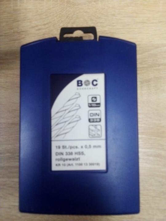 Набор сверл по металу 1,0-10мм (19шт) BOC bohrcraft (KR10)